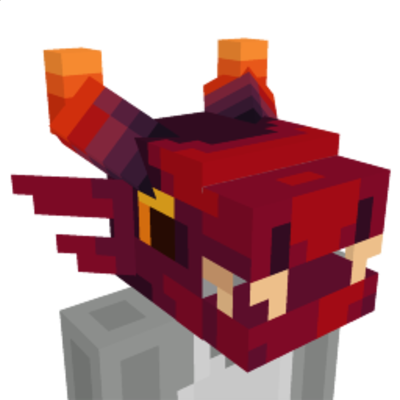 Red Dragon Head on the Minecraft Marketplace by Spectral Studios