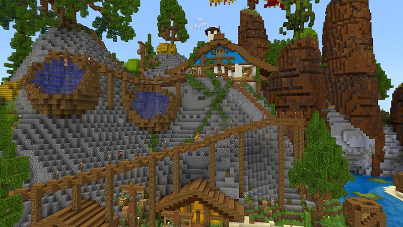 Elf Village by Diluvian