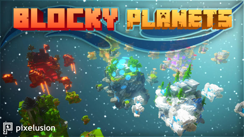 Blocky Planets on the Minecraft Marketplace by Pixelusion