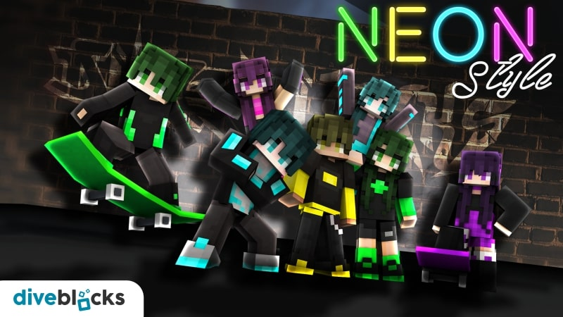 Neon Style on the Minecraft Marketplace by Diveblocks