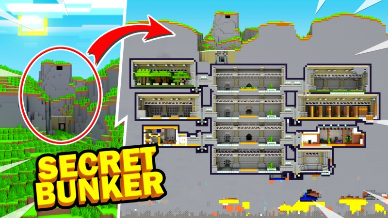 Secret Bunker on the Minecraft Marketplace by Shapescape