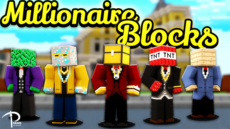 Millionaire Blocks on the Minecraft Marketplace by Pickaxe Studios