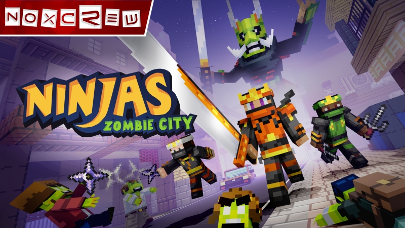 Ninjas of Zombie City on the Minecraft Marketplace by Noxcrew