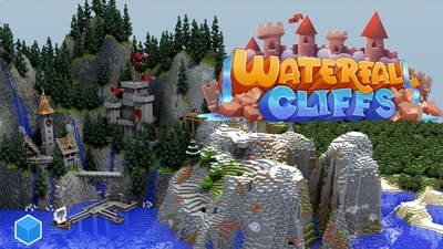 Waterfall Cliffs on the Minecraft Marketplace by CubeCraft Games