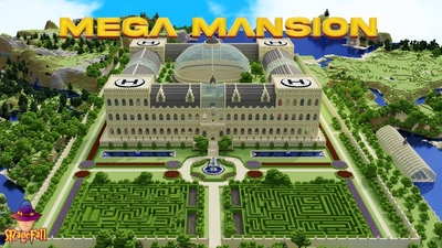 Mega Mansion on the Minecraft Marketplace by Magefall