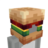 Burger Mask on the Minecraft Marketplace by BLOCKLAB Studios