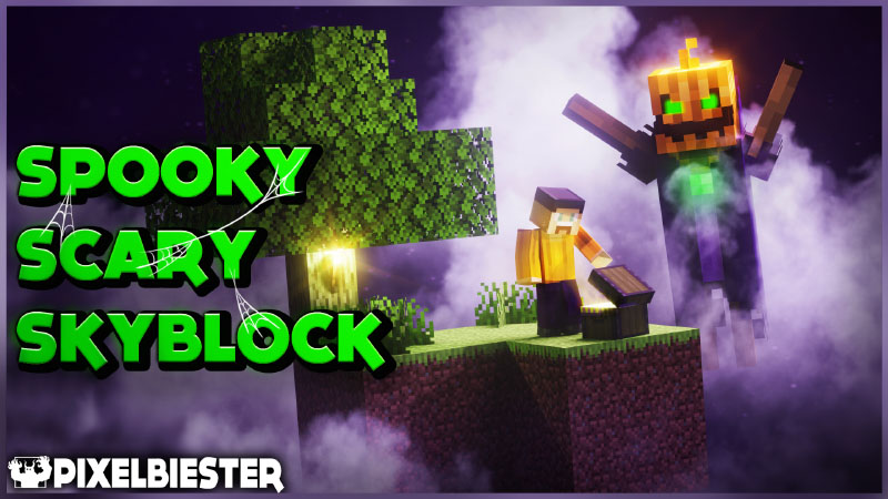 Spooky Scary Skyblock on the Minecraft Marketplace by Pixelbiester