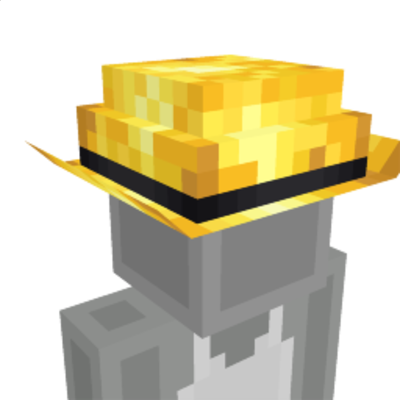 Golden Hat on the Minecraft Marketplace by CreatorLabs
