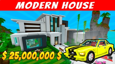 Modern House Resort on the Minecraft Marketplace by Voxel Blocks