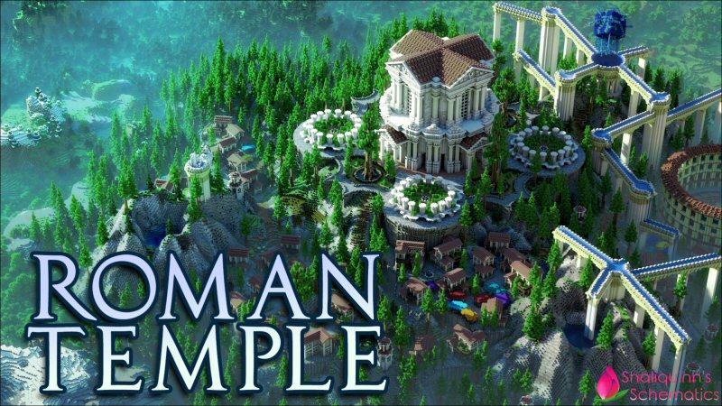 Roman Temple on the Minecraft Marketplace by Shaliquinn's Schematics