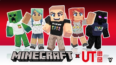 Minecraft x Uniqlo Skin Pack on the Minecraft Marketplace by Mike Gaboury