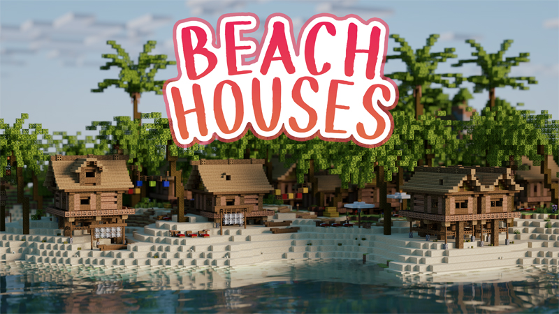 Beach Houses on the Minecraft Marketplace by Mine-North