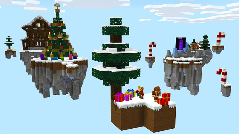 Winter Skyblock on the Minecraft Marketplace by Pixelbiester