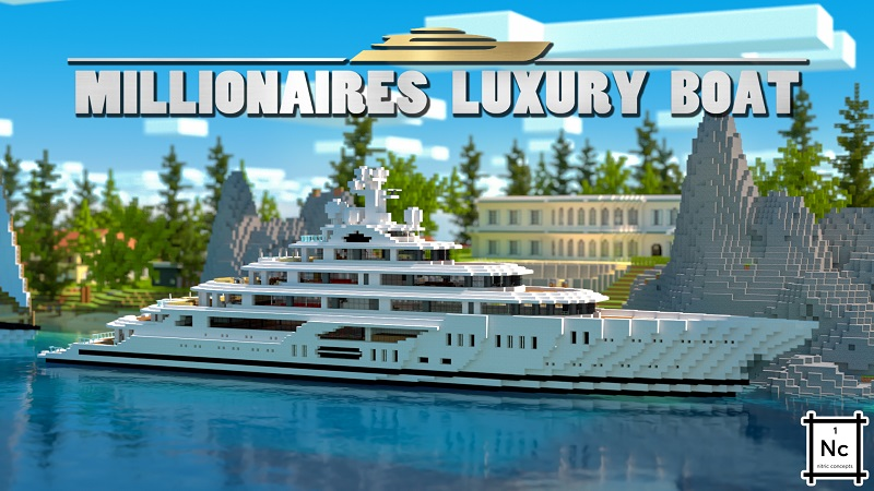 Millionaires Luxury Boat on the Minecraft Marketplace by Nitric Concepts