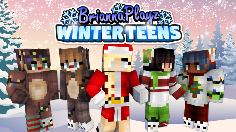 BriannaPlayz Winter Teens on the Minecraft Marketplace by Meatball Inc