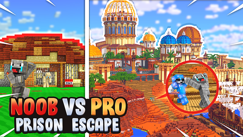 Noob vs Pro Prison Escape on the Minecraft Marketplace by Norvale