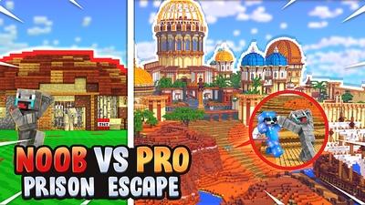 Noob vs Pro Prison Escape on the Minecraft Marketplace by Norvale