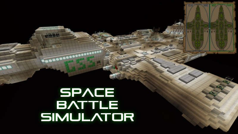 Space Battle Simulator on the Minecraft Marketplace by QwertyuiopThePie