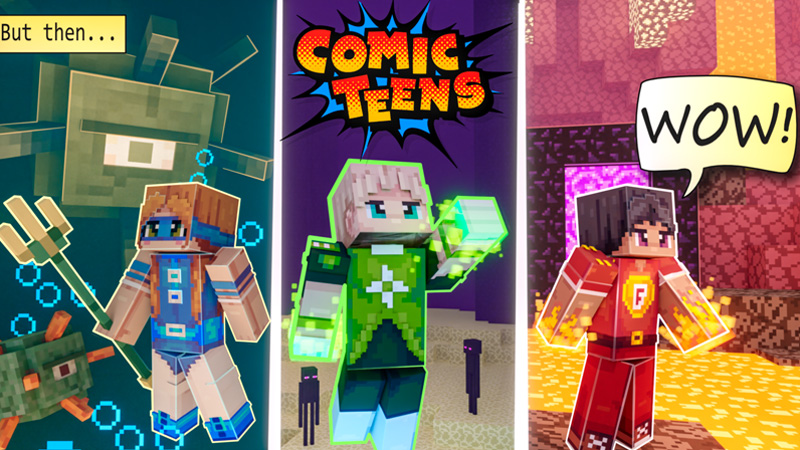 Comic Teens on the Minecraft Marketplace by Odyssey Builds