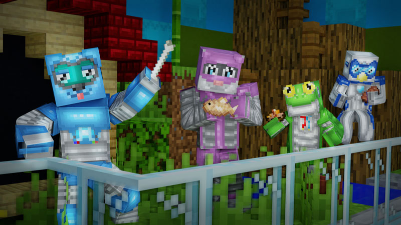 Robot Pets on the Minecraft Marketplace by CubeCraft Games