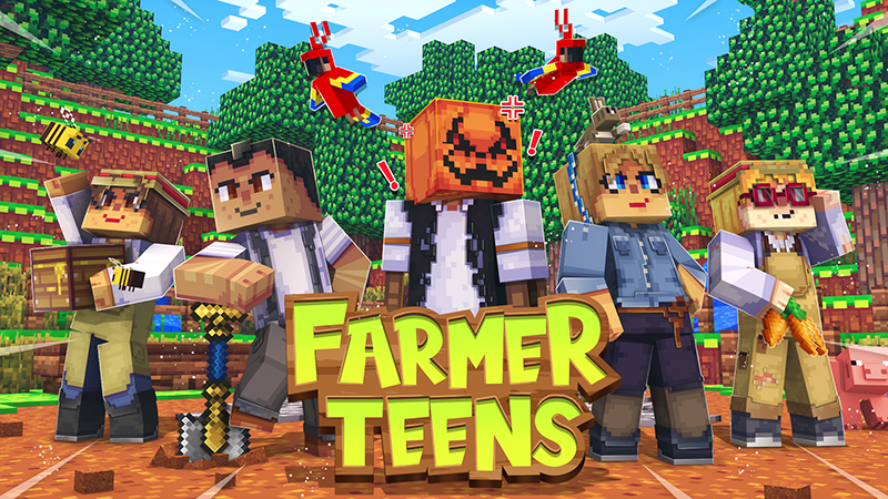 Farmer Teens on the Minecraft Marketplace by PixelOneUp