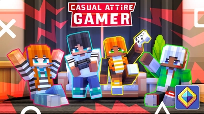 Casual Attire Gamer on the Minecraft Marketplace by BLOCKLAB Studios