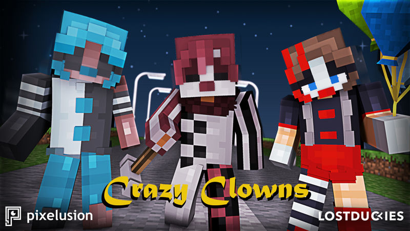 Crazy Clowns on the Minecraft Marketplace by Pixelusion