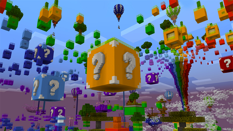 Rainbow Skyblock on the Minecraft Marketplace by Glowfischdesigns