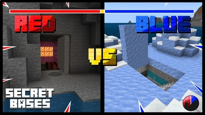 Red VS Blue Secret Bases on the Minecraft Marketplace by Snail Studios
