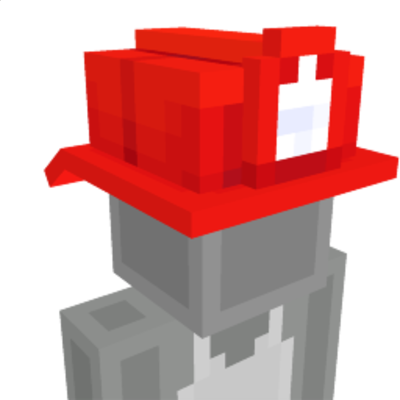 Fireman Hat on the Minecraft Marketplace by Polymaps
