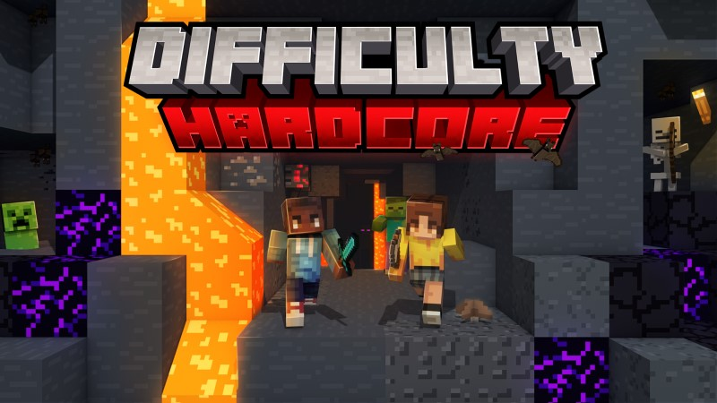 Difficulty Hardcore on the Minecraft Marketplace by Shapescape