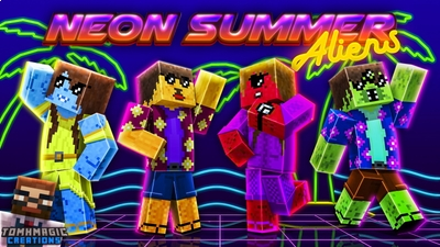 Neon Summer Aliens on the Minecraft Marketplace by Tomhmagic Creations