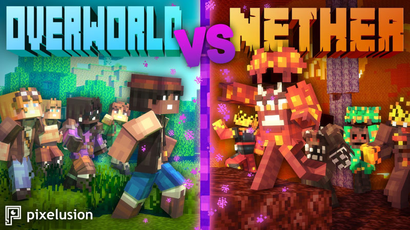 Overworld VS Nether on the Minecraft Marketplace by Pixelusion