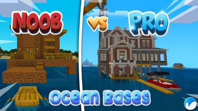 Noob VS Pro Ocean Bases on the Minecraft Marketplace by Snail Studios