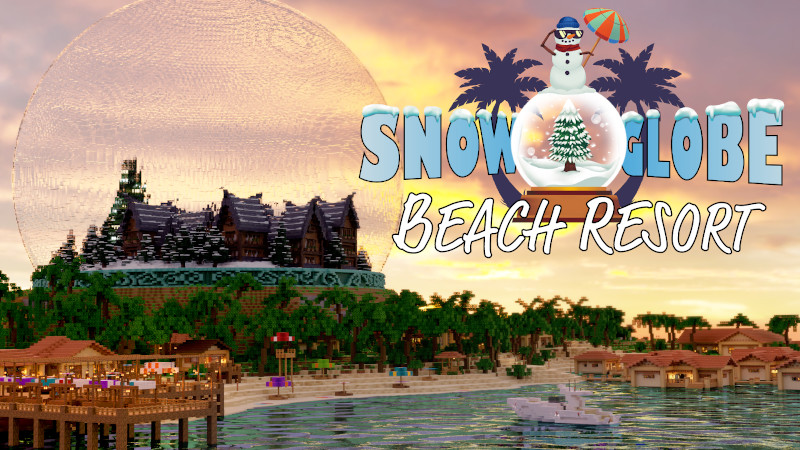Snow Globe Beach Resort on the Minecraft Marketplace by BTWN Creations