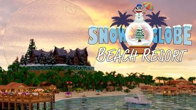 Snow Globe Beach Resort on the Minecraft Marketplace by BTWN Creations
