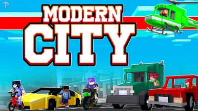 City Modern World on the Minecraft Marketplace by Pickaxe Studios