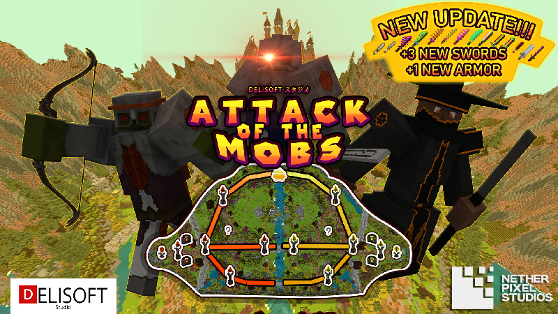 Attack of the Mobs on the Minecraft Marketplace by Netherpixel