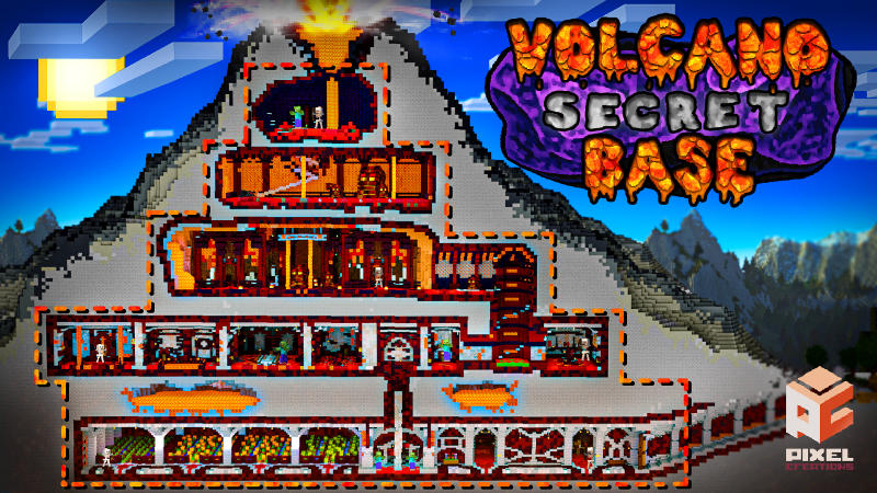 Volcano Secret Base on the Minecraft Marketplace by BLOCKLAB Studios