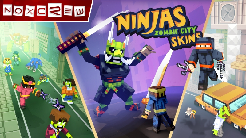 Ninjas of Zombie City Skins on the Minecraft Marketplace by Noxcrew