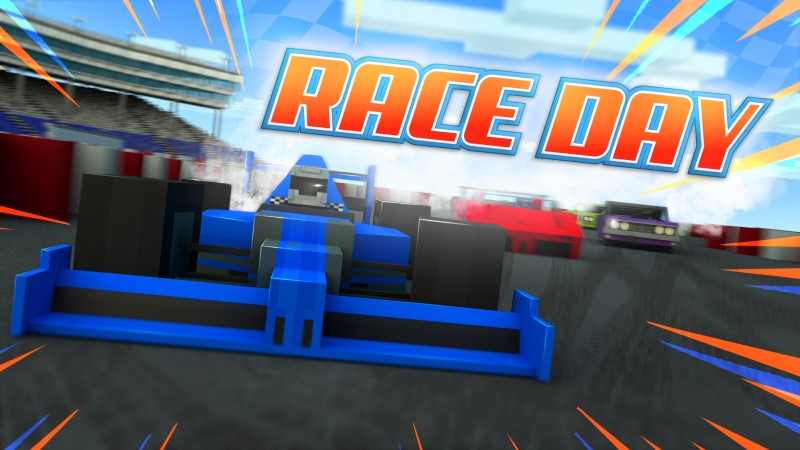 Race Day on the Minecraft Marketplace by Shapescape