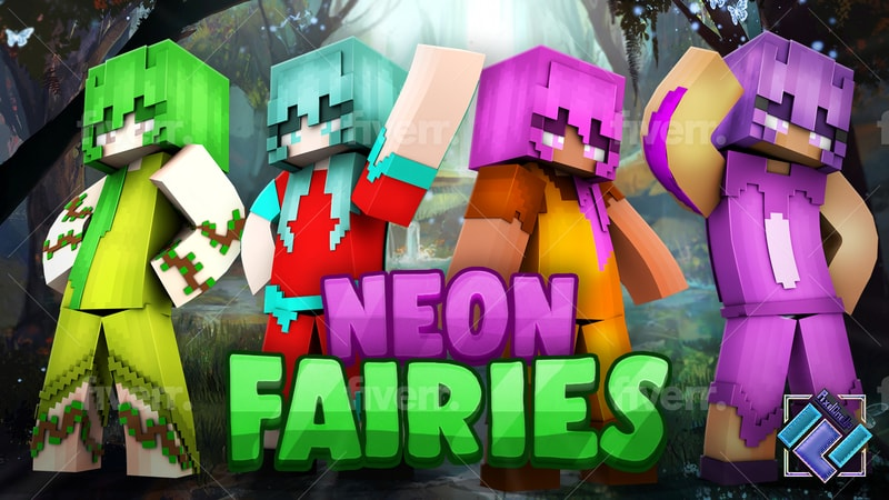 Neon Fairies on the Minecraft Marketplace by PixelOneUp