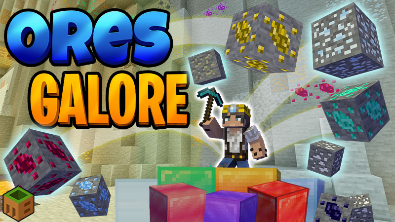 Ores Galore on the Minecraft Marketplace by MobBlocks