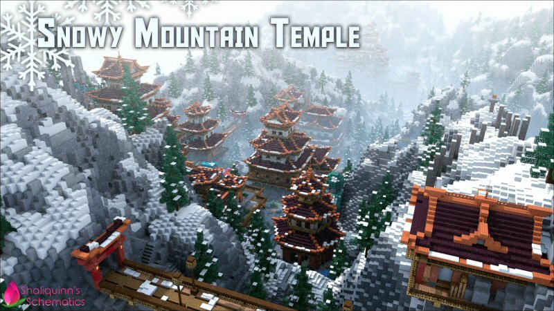 Snowy Mountain Temple on the Minecraft Marketplace by Shaliquinn's Schematics