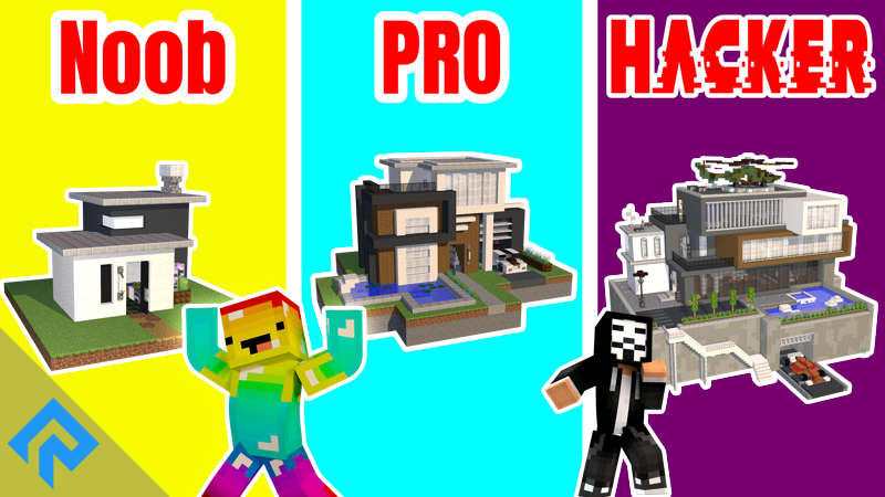 Noob vs Pro vs Hacker on the Minecraft Marketplace by RareLoot