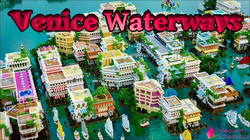 Venice Waterways on the Minecraft Marketplace by Shaliquinn's Schematics