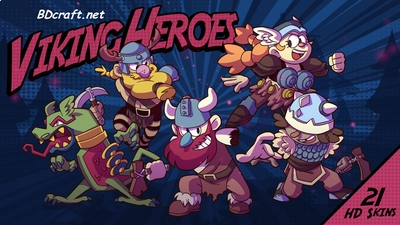 Viking Heroes Skins on the Minecraft Marketplace by BDcraft