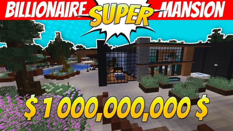 Billionaire Super Mansion on the Minecraft Marketplace by VoxelBlocks