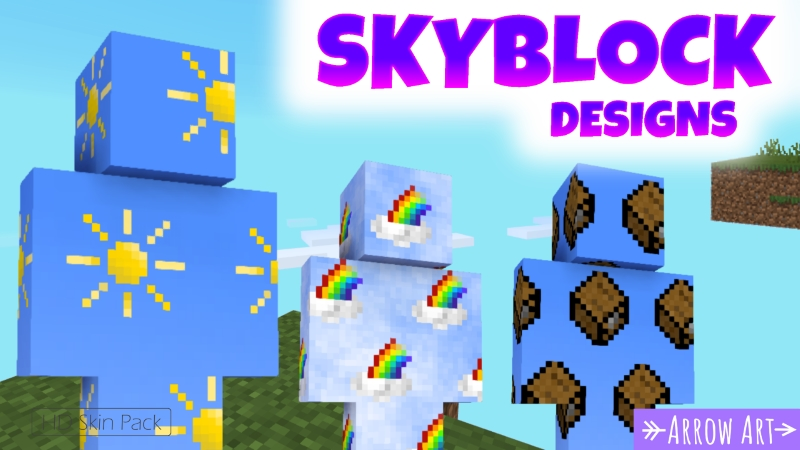 Skyblock Designs on the Minecraft Marketplace by Arrow Art Games