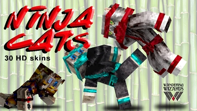 Ninja Cats on the Minecraft Marketplace by Wandering Wizards